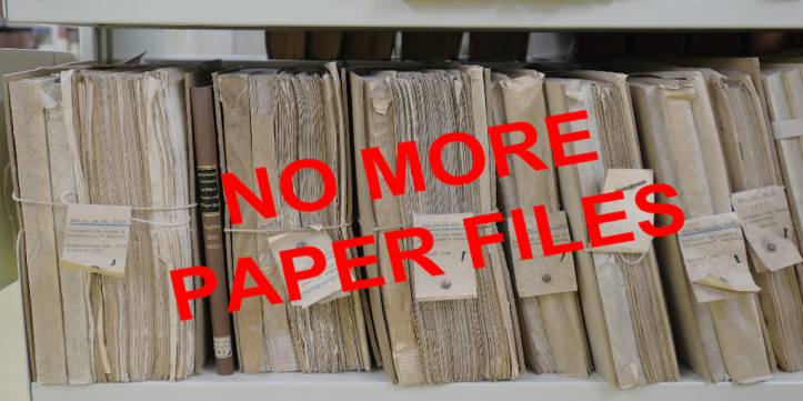 No more paper files